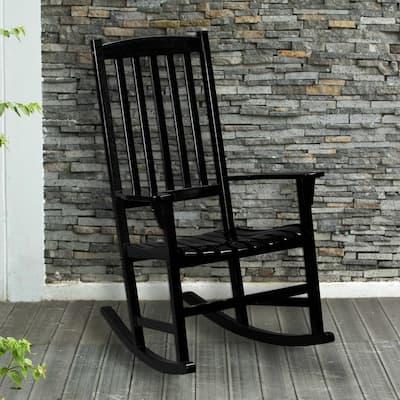 SEI Furniture Corbin Black Porch Rocker