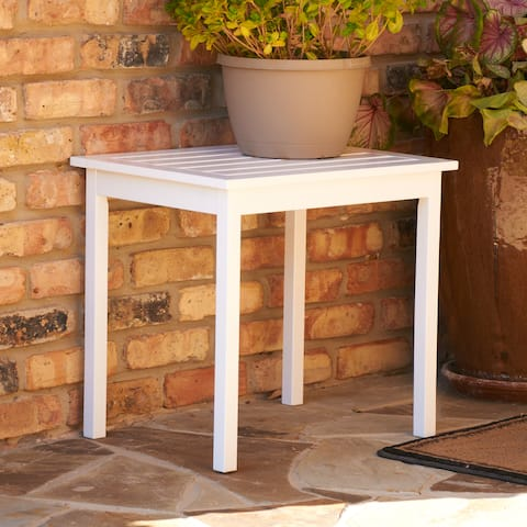 Hobucken White Wood End Table by Havenside Home