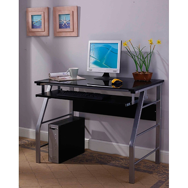 Inroom Silver Computer Desk Free Shipping Today