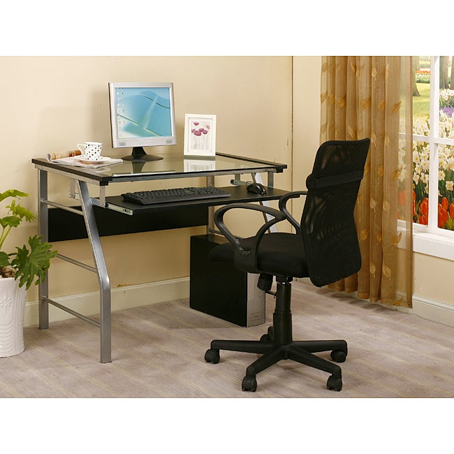 InRoom Computer Desk with Full-Size Keyboard Tray