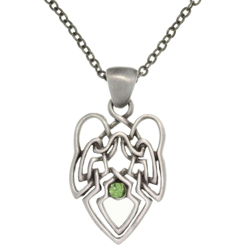 Carolina Glamour Collection Pewter Green Crystal Celtic K...