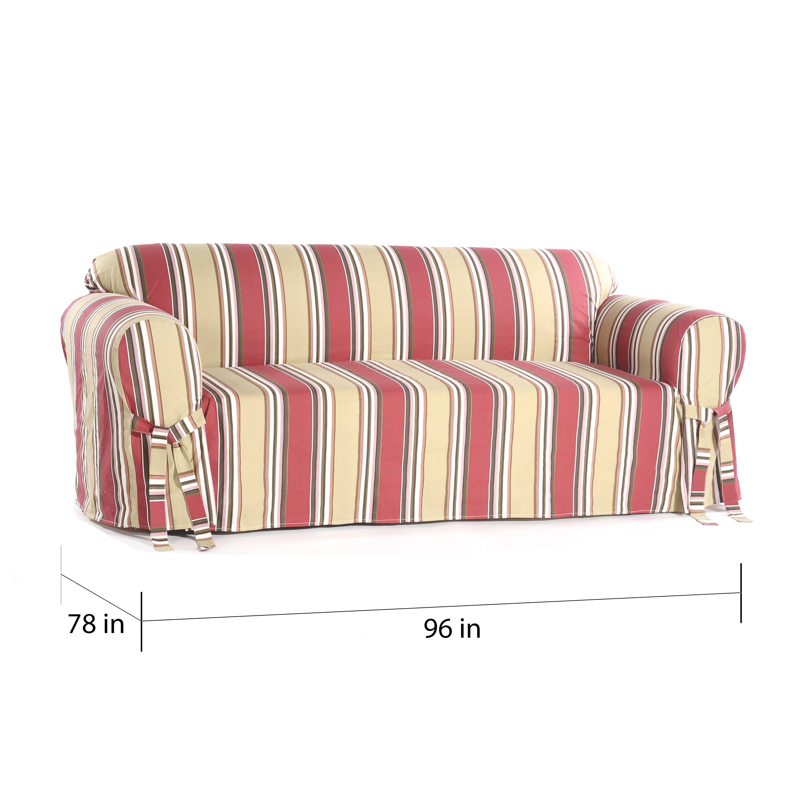 Stripe Sofa 81 Off Domain Nyc Multi Patterned Green Fl And Thesofa