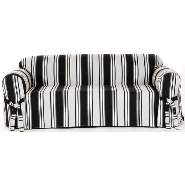 Shop Classic Slipcovers Classic Stripe Sofa Slipcover - Free ...