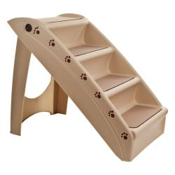 PAW Foldable Pet Staircase Portable Stairway with Carpeted Treads - Thumbnail 0