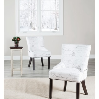 Safavieh En Vogue Dining Paris French Writing Nailhead Dining Chairs (Set of 2)