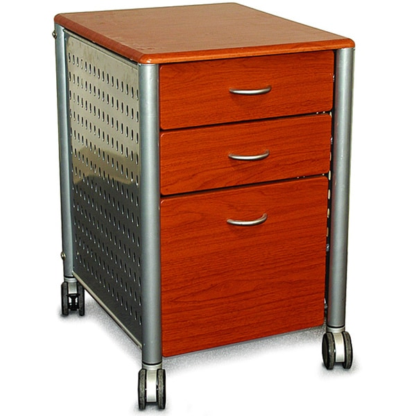 Lovely Innovex Mobile Cherry Wood Filing Cabinet