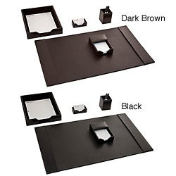 Dacasso Econo-Line Leather 5-piece Desk Set