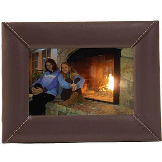 Dacasso Chocolate Brown Leather Picture Frame (4 x 6)