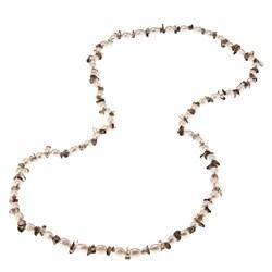 La Preciosa 36-Inch Smokey Quartz Beads and White Pearl Necklace