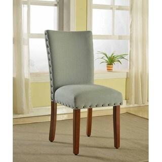 HomePop Sea Foam Nail Head Parsons Chairs (Set of 2)