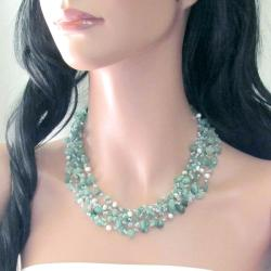 Green Nature Aventurine Five-layer Beauty Cotton Rope Necklace (Thailand) - Thumbnail 2