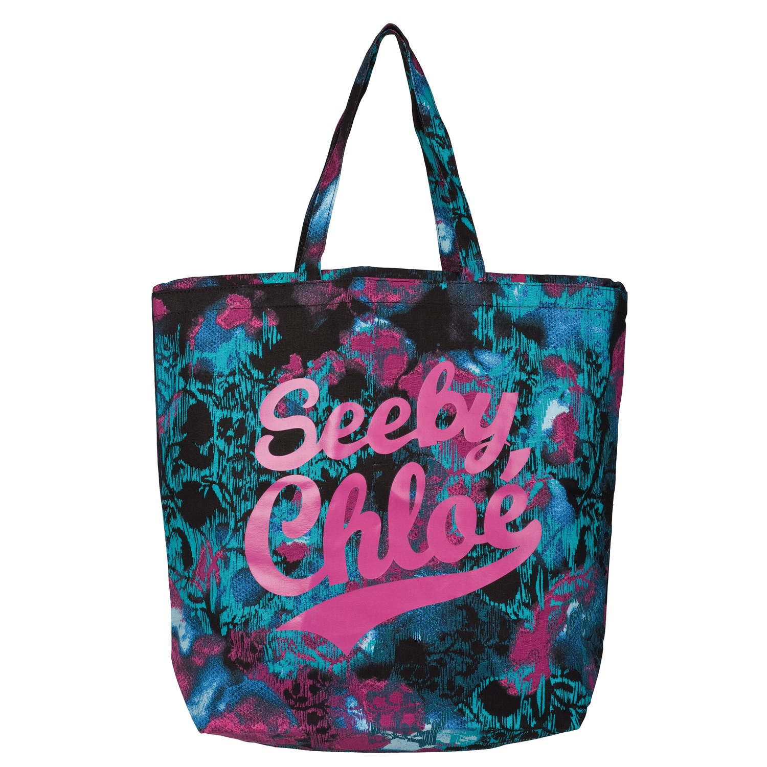 See By Chloe Multicolored Oversized 'Cotton Candy' Tote Handbag