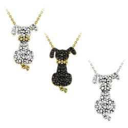 DB Designs 18k Yellow Gold Over Silver Black Diamond Accent Dog Necklace (Option: Yellow)|https://ak1.ostkcdn.com/images/products/6559929/DB-Designs-18k-Yellow-Gold-Over-Silver-Black-Diamond-Accent-Dog-Necklace-P14138548A.jpg?impolicy=medium