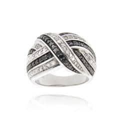DB Designs Black and White 1/2ct TDW Diamond Criss-cross Band Ring|https://ak1.ostkcdn.com/images/products/6559946/79/87/DB-Designs-Black-and-White-1-2ct-TDW-Diamond-Criss-cross-Band-Ring-P14138549.jpg?impolicy=medium