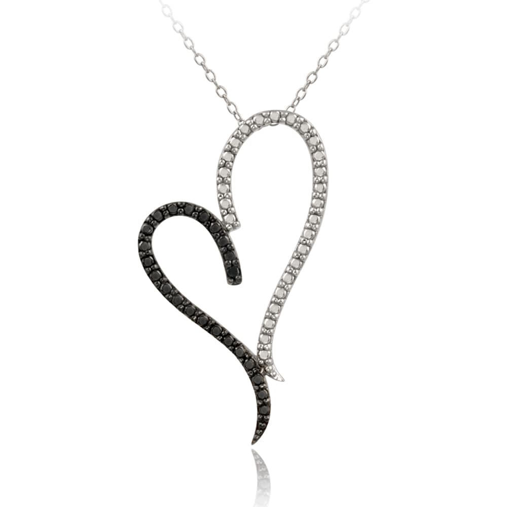 Db designs sterling silver black diamond accent heart necklace db designs sterling silver black diamond accent heart necklace aloadofball
