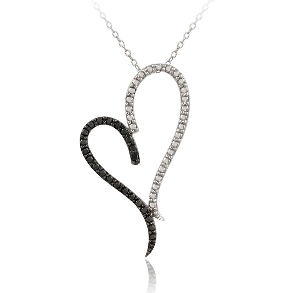 Shop db designs sterling silver black diamond accent heart necklace db designs sterling silver black diamond accent heart necklace aloadofball Image collections