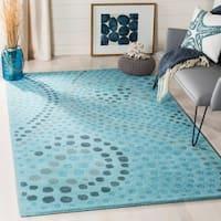 Safavieh Handmade Journey Light Blue Wool Rug (5' x 8')
