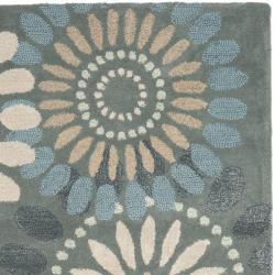 Safavieh Handmade Botanical Gardens Grey Wool Rug (4' x 6')
