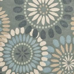 Safavieh Handmade Botanical Gardens Grey Wool Rug (8' x 10') - Thumbnail 2