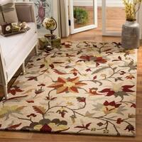 Safavieh Handmade Botanical Gardens Floral Beige Wool Rug - 4' x 6'