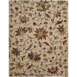 Safavieh Casual Handmade Botanical Gardens Beige Wool Rug (8' x 10')