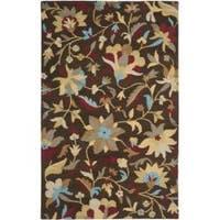 Safavieh Handmade Botanical Gardens Brown Wool Floral Rug - 5' x 8'