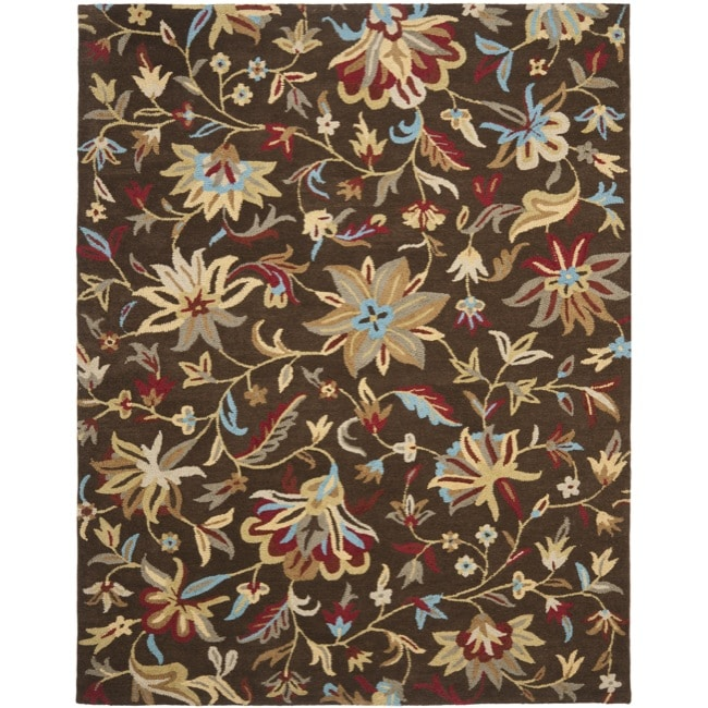 Safavieh Handmade Botanical Gardens Brown Wool Area Rug (8' x 10')