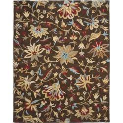 Safavieh Handmade Botanical Gardens Brown Wool Area Rug - 8' x 10' - Thumbnail 0