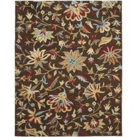 Safavieh Handmade Botanical Gardens Brown Wool Area Rug - 8' x 10'