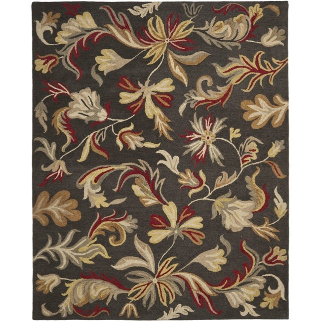 Safavieh Handmade Botanical Gardens Dark Grey Wool Rug (8' x 10')