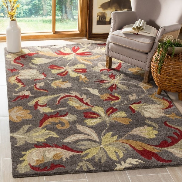 Safavieh Handmade Botanical Gardens Dark Grey Wool Rug - 8' x 10'