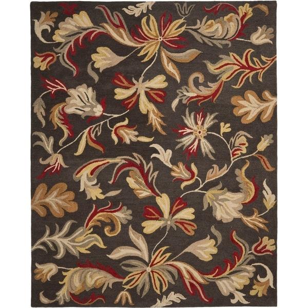 Safavieh Handmade Botanical Gardens Dark Grey Wool Rug - 8' x 10'