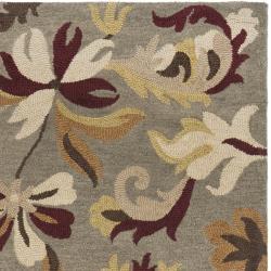 Safavieh Handmade Botanical Gardens Grey Wool Rug (5' x 8') - Thumbnail 1