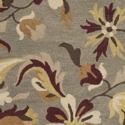 Safavieh Handmade Botanical Gardens Grey Wool Rug (5' x 8') - Thumbnail 2