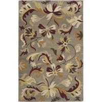 Safavieh Handmade Botanical Gardens Grey Wool Rug (5' x 8') - 5' x 8'