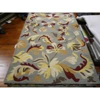 Safavieh Handmade Botanical Gardens Grey Wool Rug - 5' x 8'
