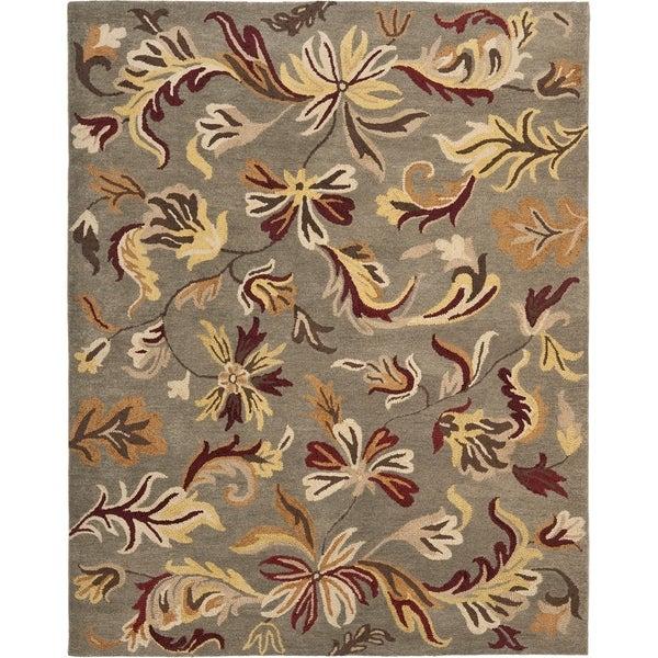 Safavieh Handmade Botanical Gardens Grey Wool Rug - 8' x 10'