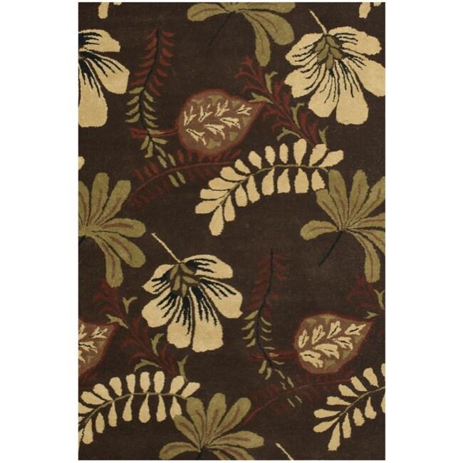 Safavieh Handmade Botanical Gardens Brown Wool Rug (4' x 6')