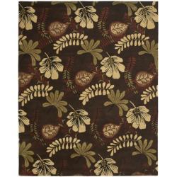 Safavieh Handmade Botanical Gardens Brown Wool Rug (8' x 10')