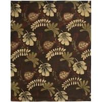 Safavieh Handmade Botanical Gardens Brown Wool Rug - 8' x 10'