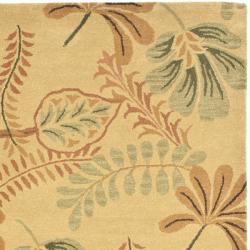 Safavieh Handmade Botanical Gardens Beige Wool Rug (5' x 8') - Thumbnail 1