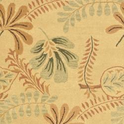 Safavieh Handmade Botanical Gardens Beige Wool Rug (5' x 8') - Thumbnail 2
