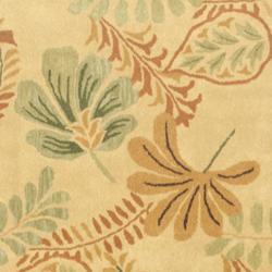 Safavieh Handmade Botanical Gardens Beige Wool Rug (6' Square)