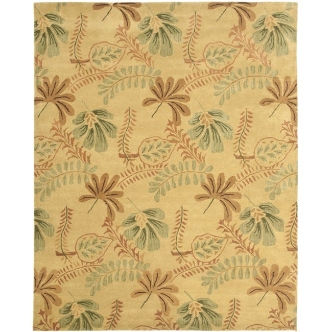 Safavieh Handmade Botanical Gardens Beige Wool Rug - 8' x 10'