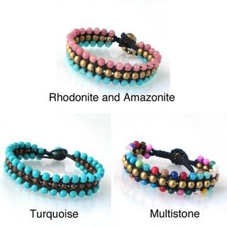 Handmade Round Harmony BeadsToggle Bracelet (Thailand)