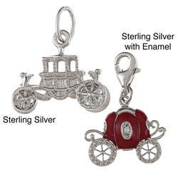 La Preciosa Sterling Silver Carriage Charm|https://ak1.ostkcdn.com/images/products/6560063/La-Preciosa-Sterling-Silver-Carriage-Charm-P14138622.jpg?impolicy=medium