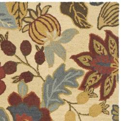Safavieh Handmade Jardin Foliage Beige/ Multi Wool Rug (7' 6 x 9' 6) - Thumbnail 1