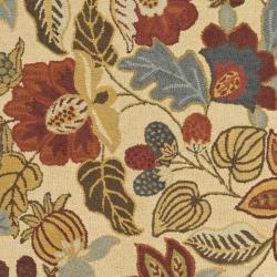 Safavieh Handmade Jardin Foliage Beige/ Multi Wool Rug (7' 6 x 9' 6) - Thumbnail 2
