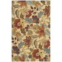 Safavieh Handmade Jardin Foliage Beige/ Multi Wool Rug - 7'6 x 9'6