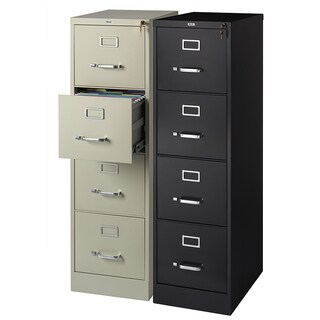 "Hirsh Commercial 22""D 4-drawer Letter Vertical File Cabinet"